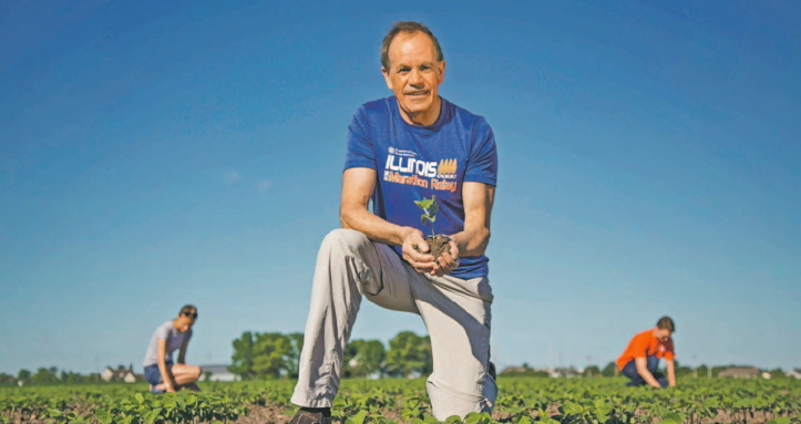 Stephen Long is leading studies in crop science at the University of Illinois. By: The University of Illinois Board of Trustees