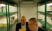 Senator Durbin tours the RIPE project's growth chambers.