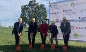 Representatives from the University of Illinois at Urbana-Champaign and the Bill & Melinda Gates Foundation breaking ground